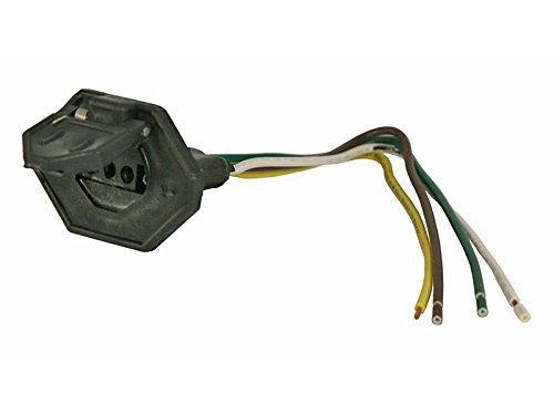 4 Flat Car End Connector - 4-Flat Car End Connector With Cover (21054) - Single