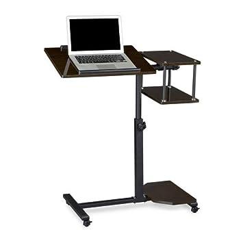 Relaxdays – Mesa para portatiles con altura ajustable, madera (MDF) y metal (