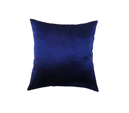 (Marudhara Fashion Designer Navy Blue Blue Accent Pillows, Simple Pattern Beaded Pillows Cover, 16