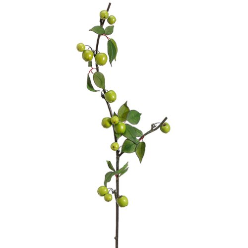 40'' Artificial Crabapple Spray -Green (pack of 12) by SilksAreForever