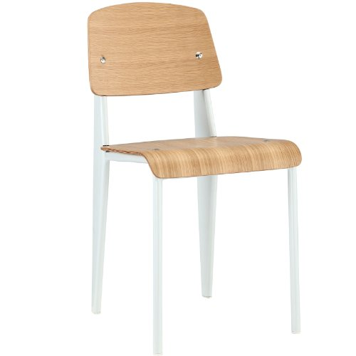 Modway Jean Prouve Style Standard Chair in White