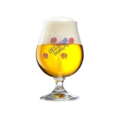 Delirium Tremens Belgian Chalice/Goblet Beer Glass 0.25L - Set of 2