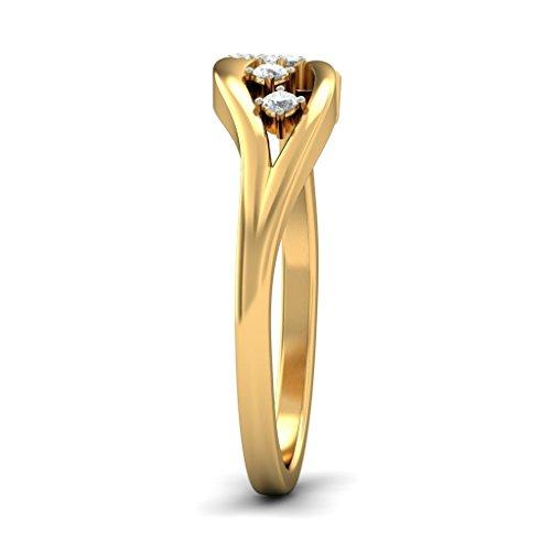 Or jaune 18K, 0,08carat Diamant Blanc (IJ | SI) en diamant