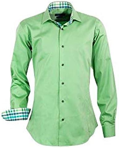 Meadrine - Camisa para hombre, color verde: Amazon.es: Ropa y accesorios