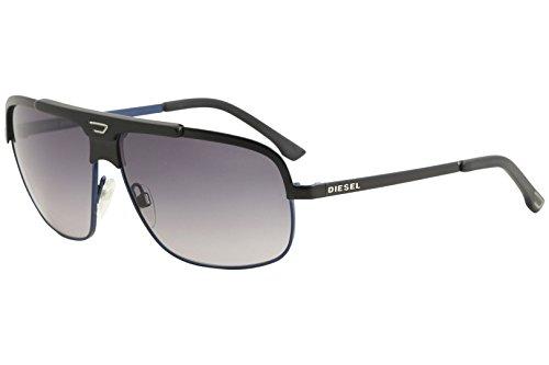 Diesel DL00376105B Aviator Sunglasses,Blue,61 - Diesel Aviators