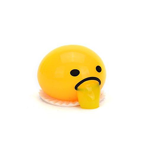 Emoji Squishy Toy  Vomiting Egg Yolk Squishy  Fun Gift Kawaii Squishies  Spitting Yolk Emoji Squeeze Squishy Toy