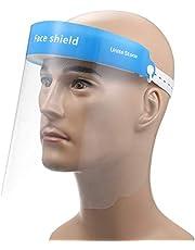 Koogeek Safety Face Shields,Full Face Shield,Plastic Face Mask Shield,Transparent Lightweight Face Protective Visor to Prevent Saliva, Splash, Droplet, Pollen and Dust for Women Men
