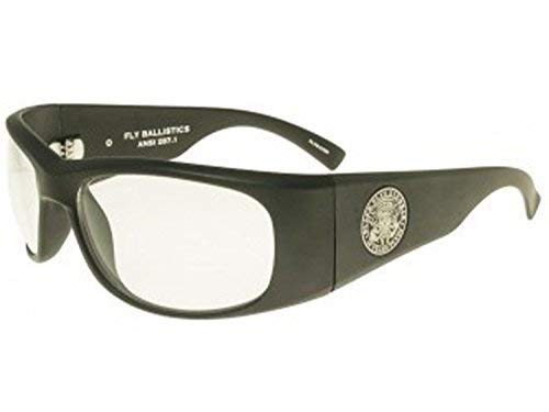 Fly Ballistics 25th Anniversary Sunglasses (Matte Black w/Clear Lens, one size) ()
