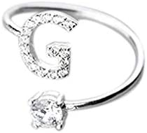 Open Ring for Women 33 Letter Silver Ring Diamond Charm Ring Women Jewelry Wedding Friends Lovers Gift