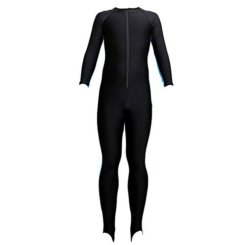KINDOYO Women Men Full Length Siamese Diving Snorkeling Suit UV Protection Swimming Watersports Wetsuit, Blue-Women/2XL by KINDOYO