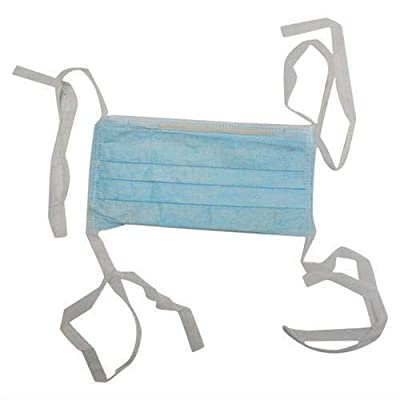 Disposable Face Masks with Ties Loop 3 Ply Breathable and Comfortable Pack of 100