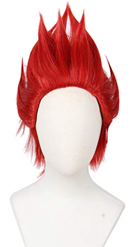 Linfairy Anime Cosplay Wig Halloween Costume Wig Hero (red)]()
