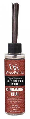(CINNAMON CHAI WoodWick 4 oz Refill for Reed or Spill Proof)