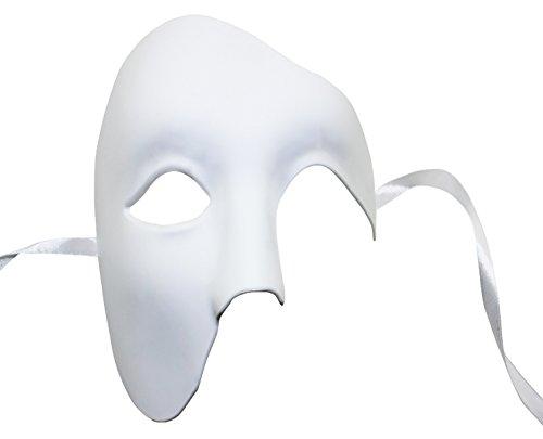 KEFAN Mens Mask Halloween Mask Masquerade Phantom of the Opera Half Face (Phantom Of Opera Halloween)