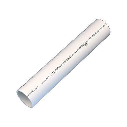Charlotte Pipe PVC 04400 0200 DWV SCH 40 Foam Core Pipe, 2', PVC, 4