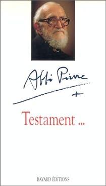 Testament par Abbé Pierre