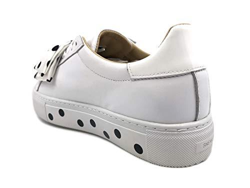 e Cuero Blanco D Mujer Zapatillas a t Para De w1EEUX4q