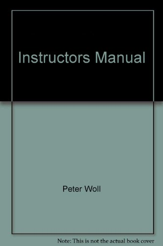Instructor's Manual to Accompany Woll's American Government: Readings and Cases