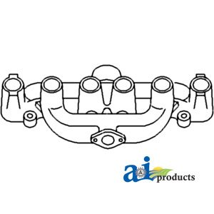 A&I Products Manifold, Intake & Exhaust (W/ GAS ENGINE) Replacement for All...