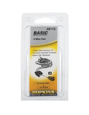 Hopkins 48115 4 Wire Flat Trailer End Connector ()