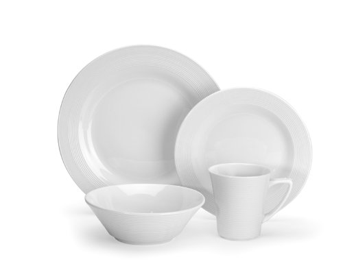 Cuisinart CDP01-S4WL Marne Collection 16-Piece Porcelain Dinnerware (Elegance White Dinnerware)