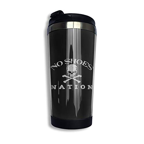 - KGOISG Kenny Chesney No Shoes Natio Coffee Cups Stainless Steel Water Bottle Cup Travel Mug Coffee Tumbler with Spill Proof Lid