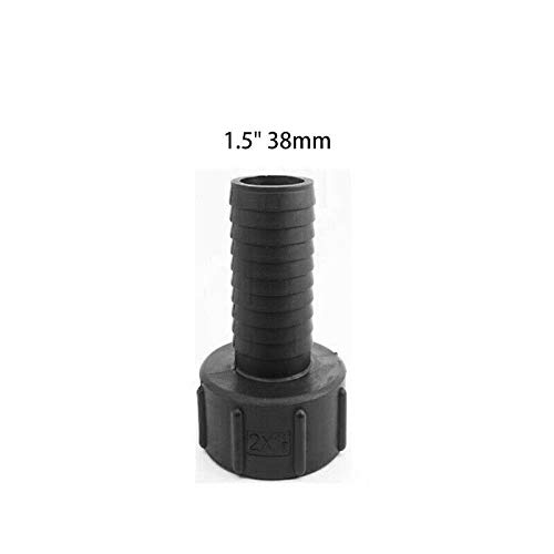 TOP-MAX IBC Tote Tank IBC Adapter Thread Water Tank IBC Water Tank Valve Connector Barrels Fitting Parts Tote Adapters for Garden Hose Adapter Fittings Tool 1000L IBC 1/2'' (12mm) to 2'' (39mm) ()