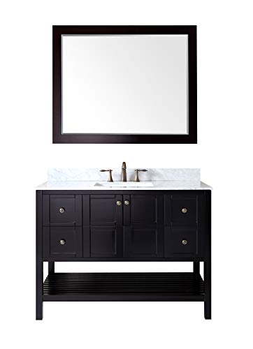 Virtu USA ES-30048-WMSQ-ES Winterfell Single Bathroom Vanity Set, 48 inches, Dark Espresso