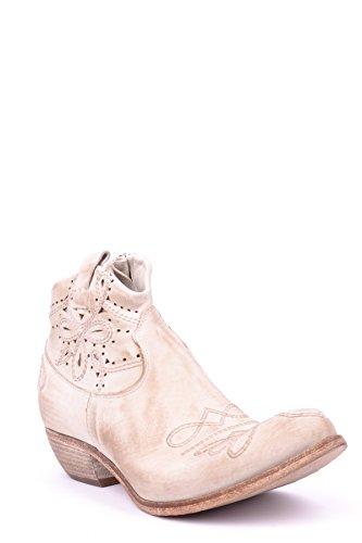 Savio Barbato What for Damen MCBI386003O Beige Leder Stiefeletten