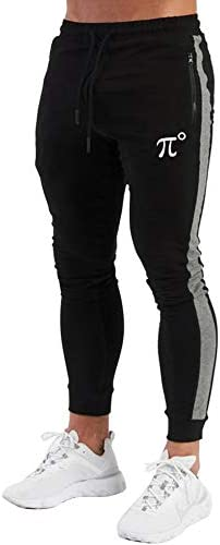 PIDOGYM Men's Athletic Running Sport Jogger Pants Slim Striped Workout Casual Joggers Tapered Sweatpants