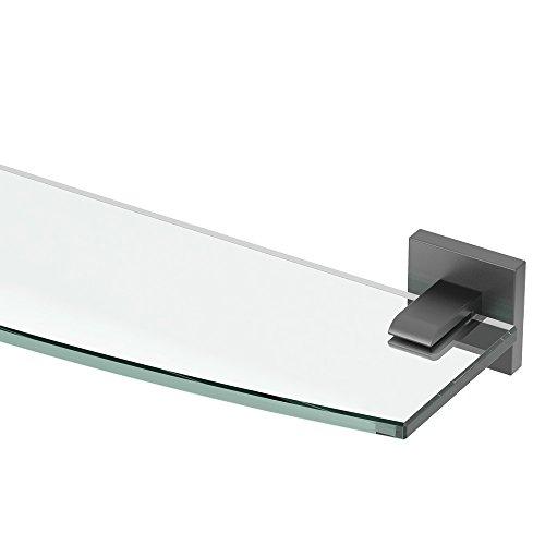 - Gatco 4056MX Elevate Bathroom 8mm Tempered Glass Shelf, 20.13