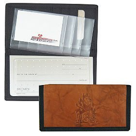 Rico Industries - Arizona State Sun Devils Leather/Nylon Embossed Checkbook Cover by Rico