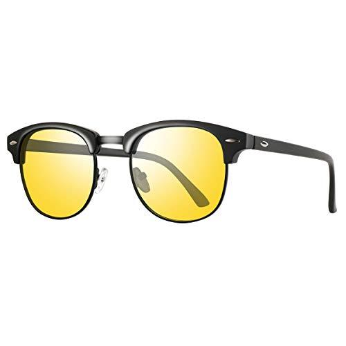 Night Vision Glasses for Driving - FEIDU HD night driving glasses anti glare polarized mens women glasses (yellow, ()