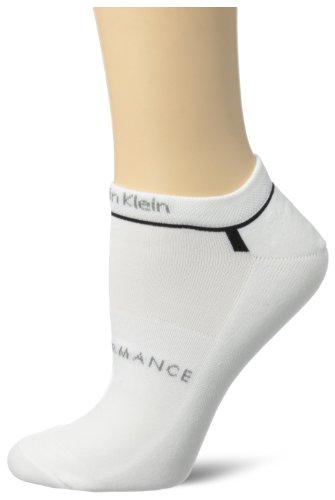 Calvin Klein Women's Balance Racer Running Sock Stripe, White/Black, One Size