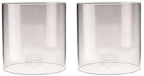 Coleman Lantern Globe Clear, Straight - 2 Pack