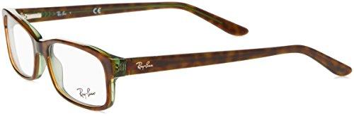 Ray-Ban RX5187 Eyeglasses Havana / Green 52mm by Ray-Ban