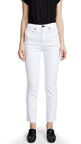 Cigarette Leg Stretch Jeans (Rag & Bone/JEAN Women's Cigarette Jeans, White, 27)