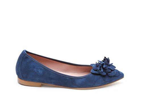 Scarpe italiane ballerine a punta blu