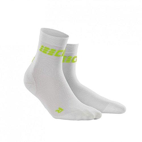 CEP Dynamic+ Women's Cycle Ultralight Short Socks (White/Green) Size: III