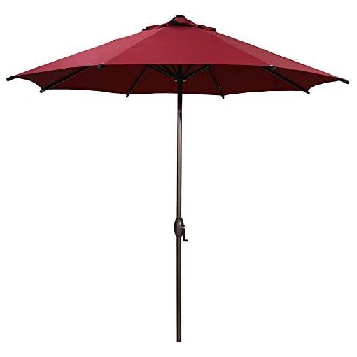 Garden and Outdoor Abba Patio 9ft Patio Umbrella Outdoor Market Table Umbrella with Push Button Tilt and Crank for Garden, Lawn, Deck… patio umbrellas