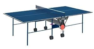 Stiga Indoor-Tischtennisplatte Basic Roller, blau beschichtet
