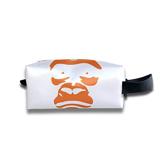 Makeup Cosmetic Bag Gorilla Face Animal Funny Logo Zip Travel Portable Storage Pouch for Mens Womens by Cooby Roman
