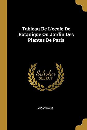 Tableau De L'ecole De Botanique Ou Jardin Des Plantes De Paris
