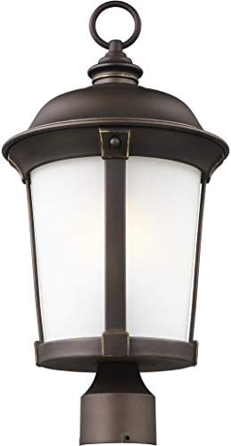 Sea Gull Lighting 8250701EN3-71 One Light Outdoor Post Lantern, Antique Bronze