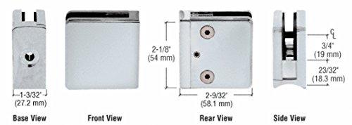 C.R. LAURENCE Z610SC CRL Satin Chrome Z-Series Square Type Radius Base Zinc Clamp for 3/8