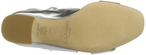 LK BENNETT Women's Dina Wedge Heels Sandals Silver Dgduq2kab
