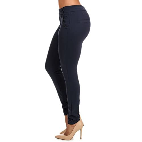 Lovely Sexy Womens Stretch Skinny Leg Slim Fitted Black Dress Pants