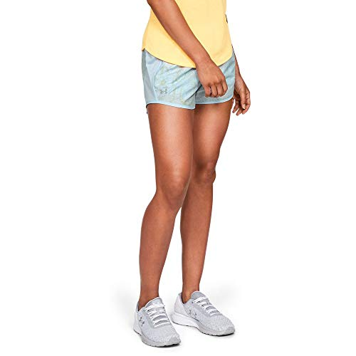 (Under Armour Women's Fly-by Printed Shorts, Code Blue//Reflective, Small)