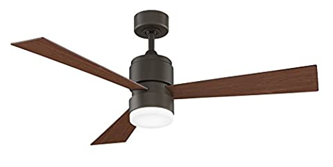 Fanimation Zonix LED - 54 inch - Oil-Rubbed Bronze with Walnut Blades and LED Light Kit with Remote - - Fanimation Oil