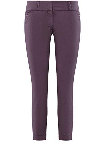 Algodón Oodji Mujer De 8800n Morado Pantalones Chinos Ultra wXT7wA